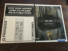 1987 VINTAGE 9X12 PRINT AD FOR THE Pioneer S-8000 Hi-Fi Midi System