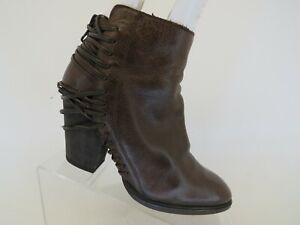 Dolce Vita Brown Leather Zip Ankle Fashion Boots Bootie Size 7.5 M