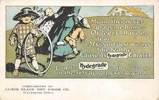 HYDEGRADE GALATEA CLOTHING JAMES BLACK WATERLOO IOWA ADVERTISING POSTCARD c.1905