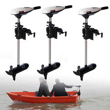 60LBS Transom Mount Electric Trolling Motor Freshwater For Inflatable Boat UPS