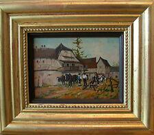 """Hans Enzinger """"Landhaus mit Pferden"""""""