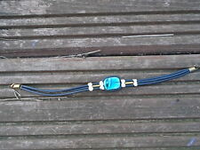 Black 3 strand bracelet with a turquoise colour stone in the centre, NEW