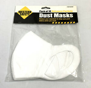 Western Safety Pack of 10 Wood Shop Dust & Nuisance Particle Mask 95% Filtration