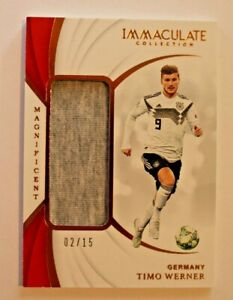 2018 Panini Immaculate Timo Werner Rookie #'d 02/15 Player Worn Material Germany