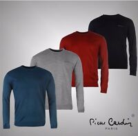 New Mens Designer Pierre Cardin Knitwear Crew Neck Jumper Top Size S-XXXL