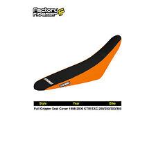 1998-2000 KTM EXC 200/250/380 FULL GRIPPER SEAT COVER Orange/Black by Enjoy MFG