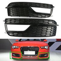 x2 Front Lower Bumper Grill Fog Light Cover For AUDI A5 Quattro S-LINE 2013-2017