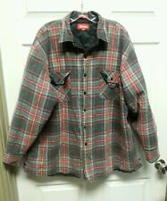 Vintage Colman Mens Jacket XXL Flannel Like Blue Red Green Plaid Grunge Distress