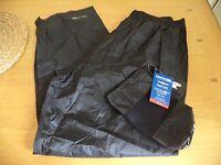 """Trespass Waterproof Trousers Lightweight Packaway XXL 36"""" Waist BNWT FREEPOST"""