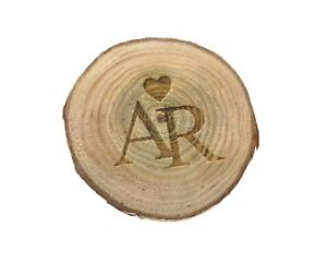 Personalised Wedding Favours Charms Decoration Wooden Slice Rustic