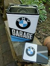 Official BMW GARAGE Service Repairs Tin Storage / Lunch Box - Made in Germany