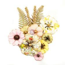 Prima Flowers FRUIT PARADISE - Lemon Lime Paper Flowers Tags Scrapbook 639891