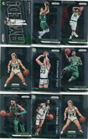LOT (13) 2018-19 PRIZM BOSTON CELTICS LARRY BIRD JAYLEN BROWN RUSSELL - 5284