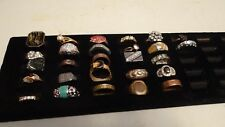 Lot Of 27 Vintage To Modern Costume Jewelry Rings Different Sizes Womens Avon