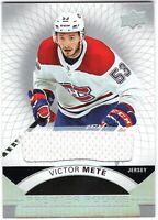 VICTOR METE 2017-18 Upper Deck Premier Premier ROOKIE RC JERSEY Canadiens