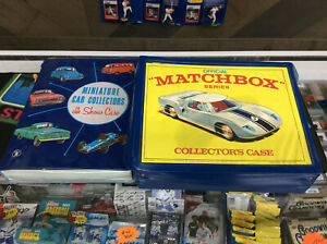 Vintage Matchbox Diecast Car Lot Of 36 W/ 2 Collector Cases See Pics!