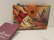 Anuschka wallet small floral butterfly NWT