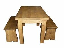 Solid Wood Farmhouse Fixed Kitchen & Dining Tables