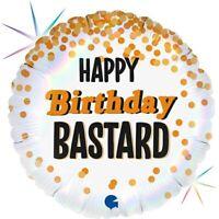 "Grabo B tard Happy Birthday Rainbow Holographic Round Shaped Balloon- 18"""
