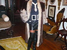 Mint Unique FL Mink & Silver Fox Fur Coat Jacket S-M