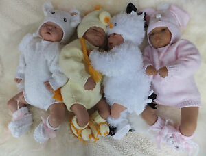 KNITTING PATTERN TO MAKE 4 LEAP YEAR BABIES FOR A 0/3 MONTH BABY OR REBORN DOLL