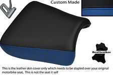 ROYAL BLUE & BLACK CUSTOM FITS SUZUKI GS 1200 SS 01-02 FRONT LEATHER SEAT COVER