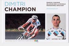 CYCLISME carte cycliste DIMITRI CHAMPION équipe AG2R prévoyance 2011