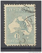 AUSTRALIA, 1929 1/-  (wmk multiple small A and crown) used (D)
