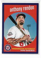 2018 topps archives baseball purple parallel /175 Anthony Rendon Washington