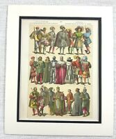 1895 Antico Stampa 16th Secolo Tedesco King Royalty Nobility Costume Abito