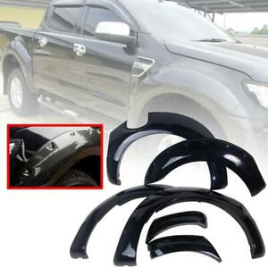 """Fit Ford Ranger T6 Gloss Black Fender Flare Flares Wheel Arch Arches Xlt Xl 6"""""""