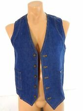 VINTAGE SEPARATE-LEES BY LEE  MENS DENIUM VEST SIZE S LKNW CONDITION!