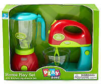 Play Zone Home Play Kitchen Appliance Set With Lights and Sound