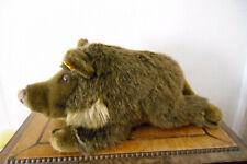 Wildschwein-Wutzi- von Steiff mit Knopf und Fahne