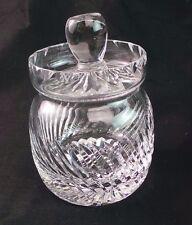 TUDOR CRYSTAL MUSTARD JAR FROM ENGLAND
