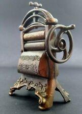 Vintage Clothes wringer Brass miniature Pencil sharpener Rare made Spain
