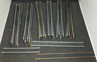 TYCO, GARNET, ATLAS MIXED STRAIGHT TRACK, 33 PIECE LOT. VINTAGE HO H0 SCALE