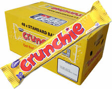 Cadbury Crunchie Chocolate Bar 40g x 48 Full Box Kids Cadburys Sweets Bars Pack