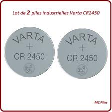 2 piles boutons CR2450 lithium Varta Industrielle, livraison rapide et gratuite