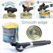 Ergonomic Smooth Edge Side Cut Manual Tin Can Opener Cans Lid Lifter Kitchen