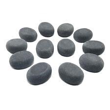 HOT STONE MASSAGE: 12 Small Basalt Massage Stones 3.75 x 3 x 1.75 cm