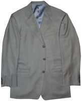 PREOWNED MINT HICKEY FREEMAN BLACK LABEL GRAY WEAVE CANTERBURY JACKET 42R 42 R