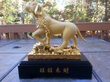 """10""""H Chinese Lucky Money Wealth Dogs Statue"""