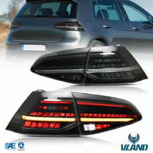 Smoked Led Tail Lights Brake Light For 2013-2019 Volkswagen VW Golf MK7 VII Pair