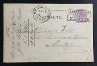 STEINBACH-HALLENBERG R. B. CASSEL Pfannstiel-Stempel 1883 auf Postkarte
