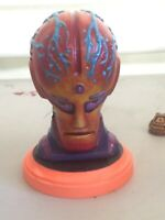 OOAK 1970s SCI FI ALIEN bust with custom paint job by RAK - MONSTER CREATURE art