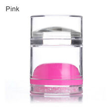 Dual-ended Clear Jelly Rhinestone Nail Art Silicone Stamper Scraper Candy Color