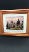 "Original Picture Framed ""Charles Bridge in Prague"""