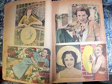 Beautiful Women 1937 scrapbook - 100+ magazine pin up girl cutouts, stars,models