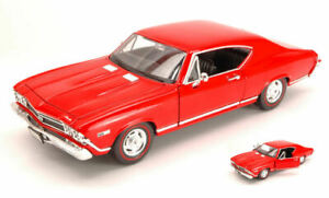 Model Car Scale 1:24 Welly Chevrolet Chevelle Ss 396 vehicles diecast